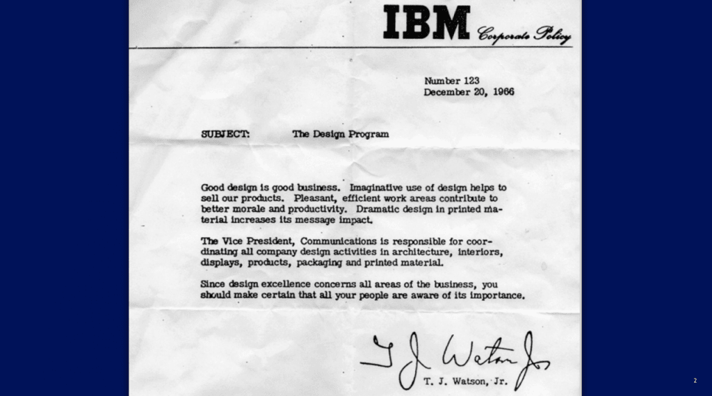 IBM's T.J. Watson on business and design