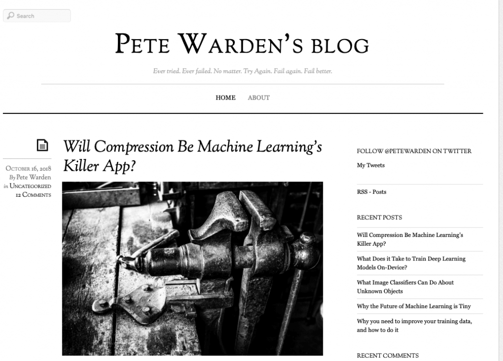 Pete Warden's blog