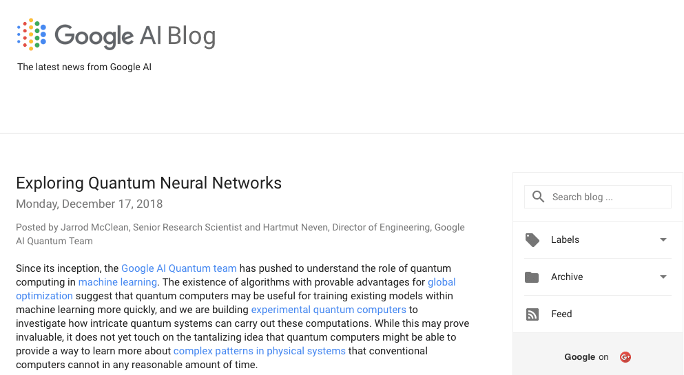 The Google AI Blog
