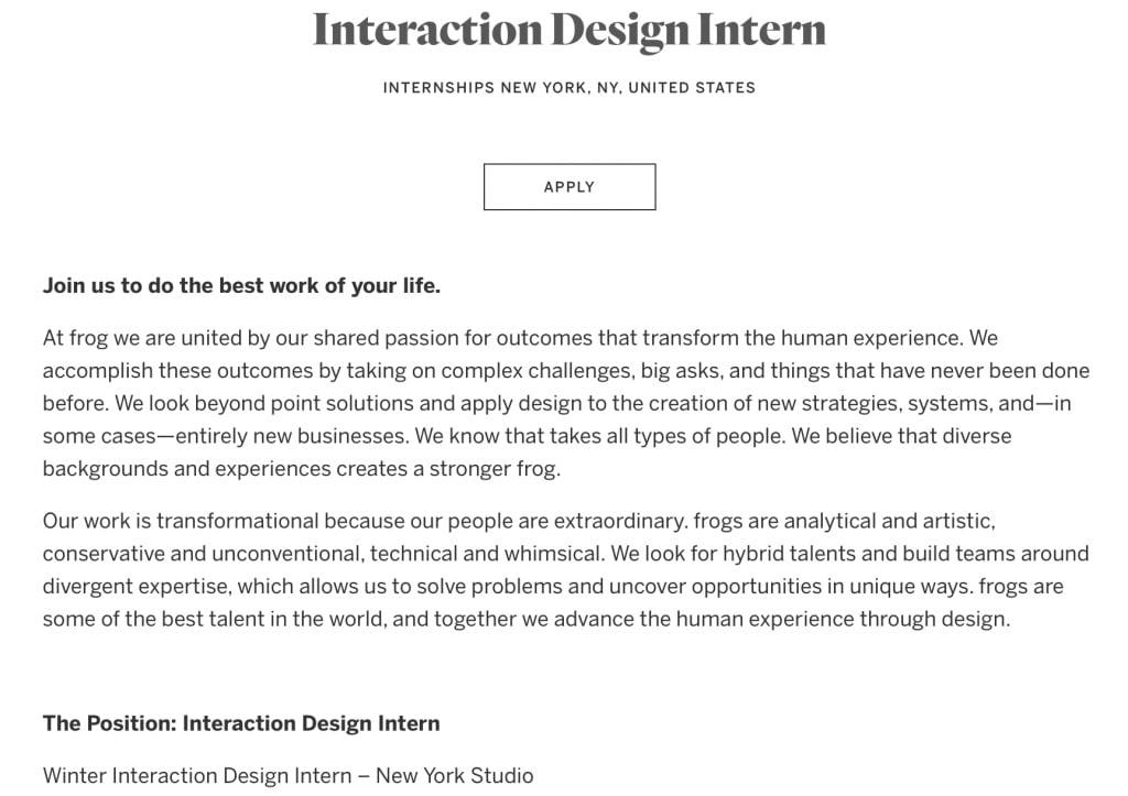 IDEO's summer internship