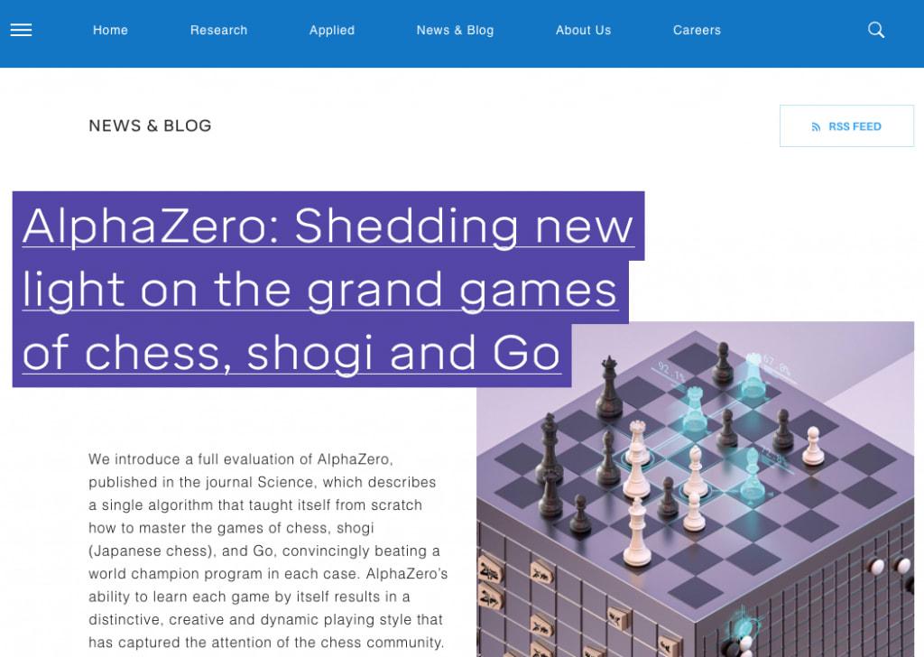 DeepMind's blog