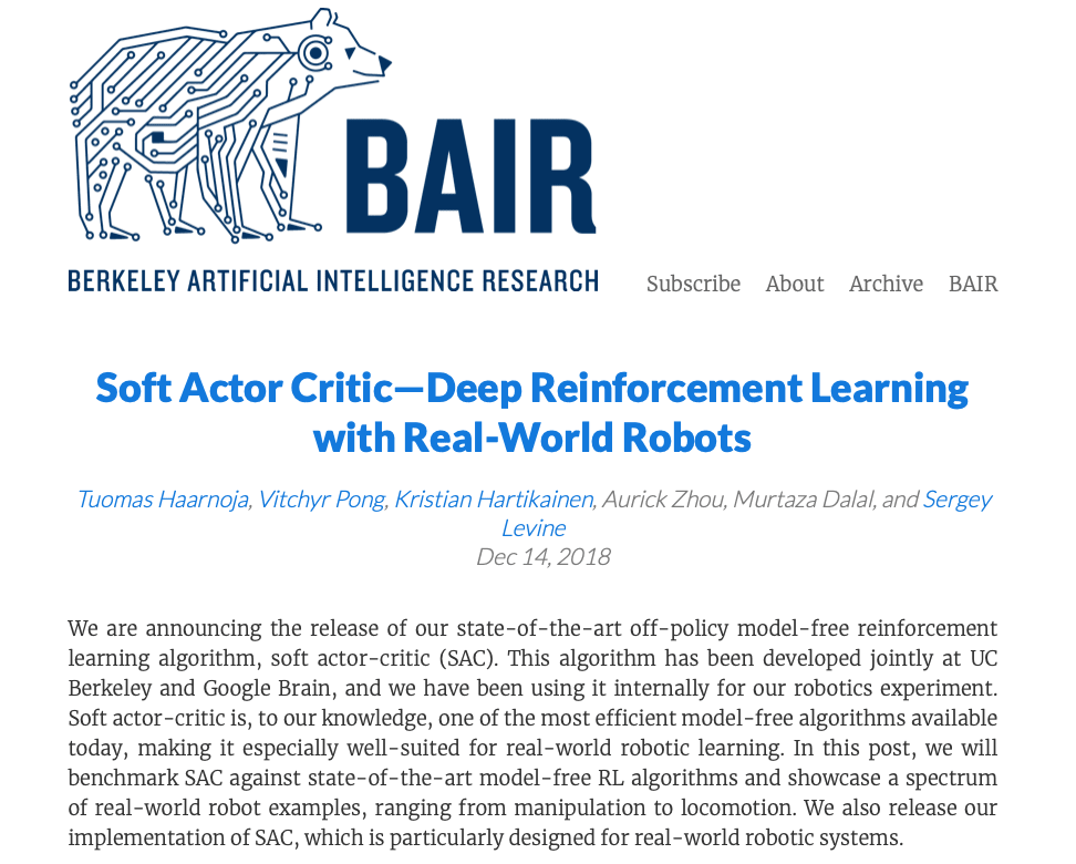 Berkeley Artificial Intelligence Research (BAIR) Blog