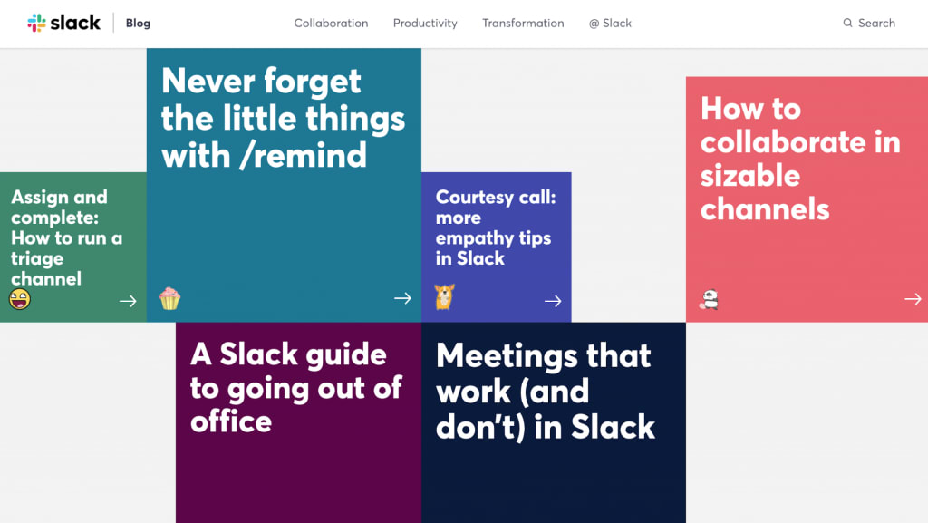 Slack's website