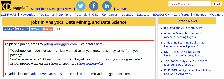 KDNuggets jobs