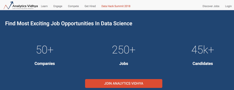 Analytics Vidhya jobs
