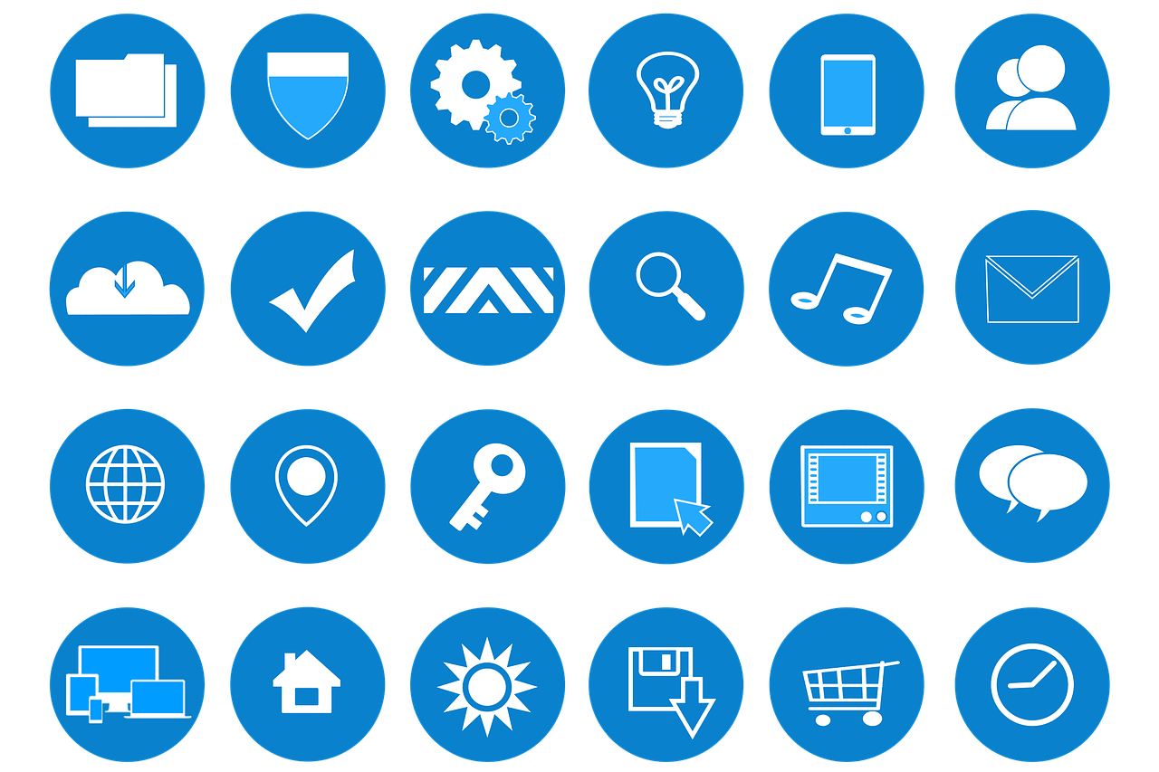An example of icon illustrations, which can be part of a user interface