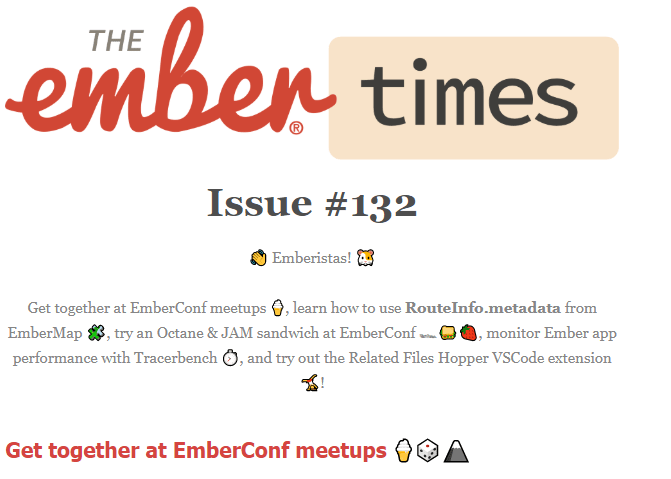 JavaScript newsletters Ember Times