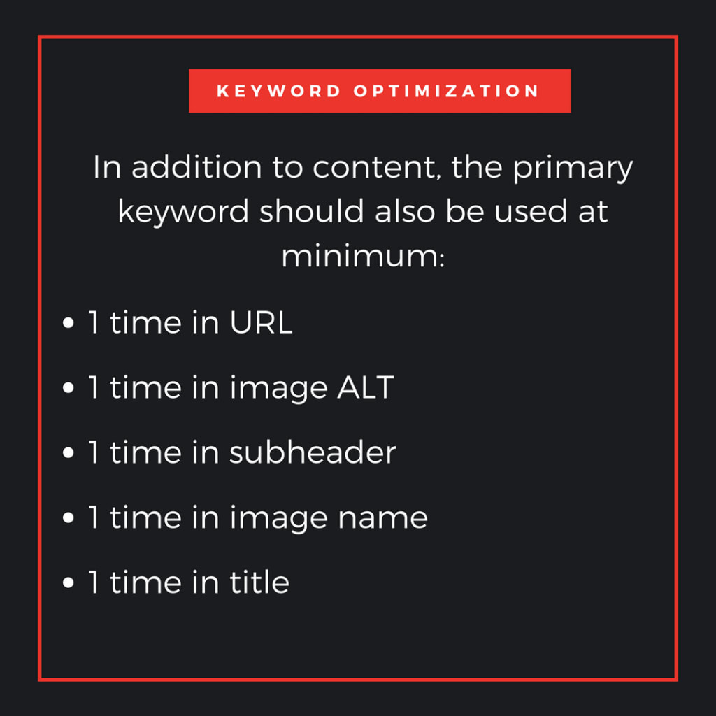 more on primary keywords