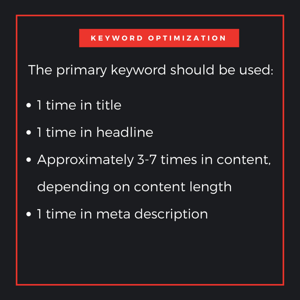 how to use primary keywords