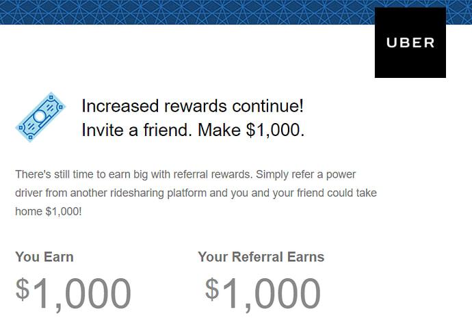 uber's referral program