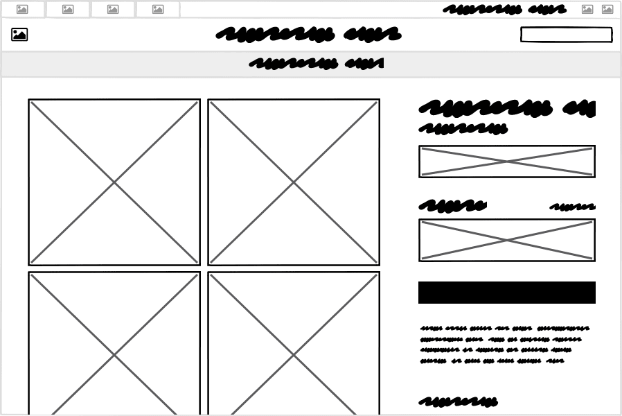 Decreasing the fidelity of our wireframe to abstract away the individual controls