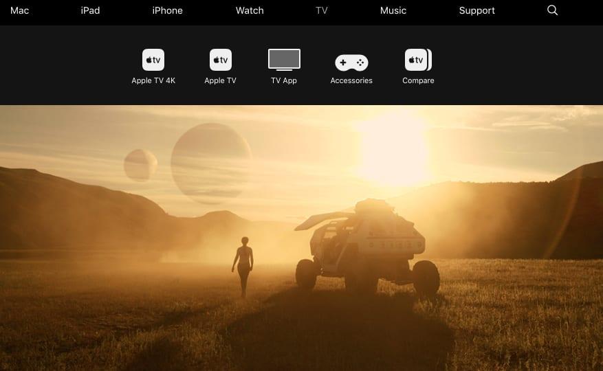 Apple TV sales page