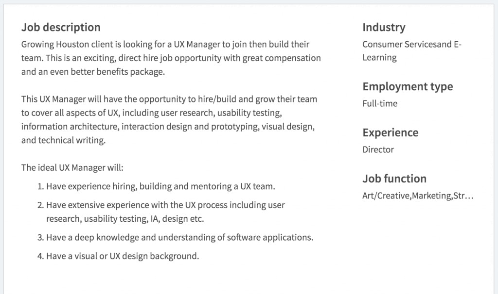 UX product manager job