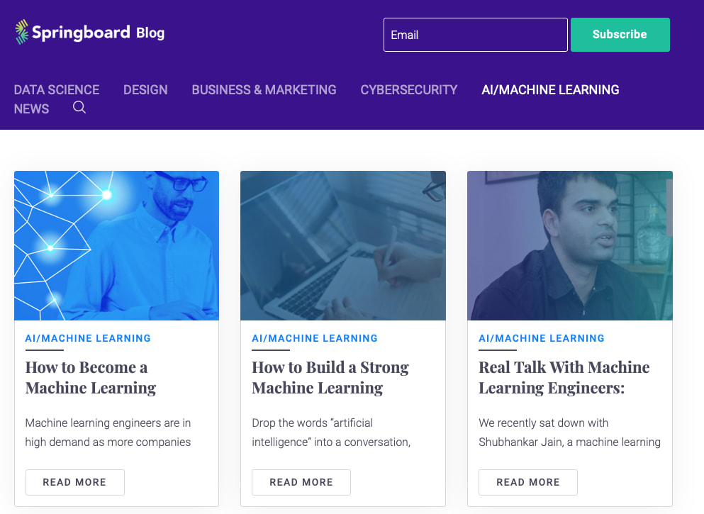 Springboard's AI / machine learning blog