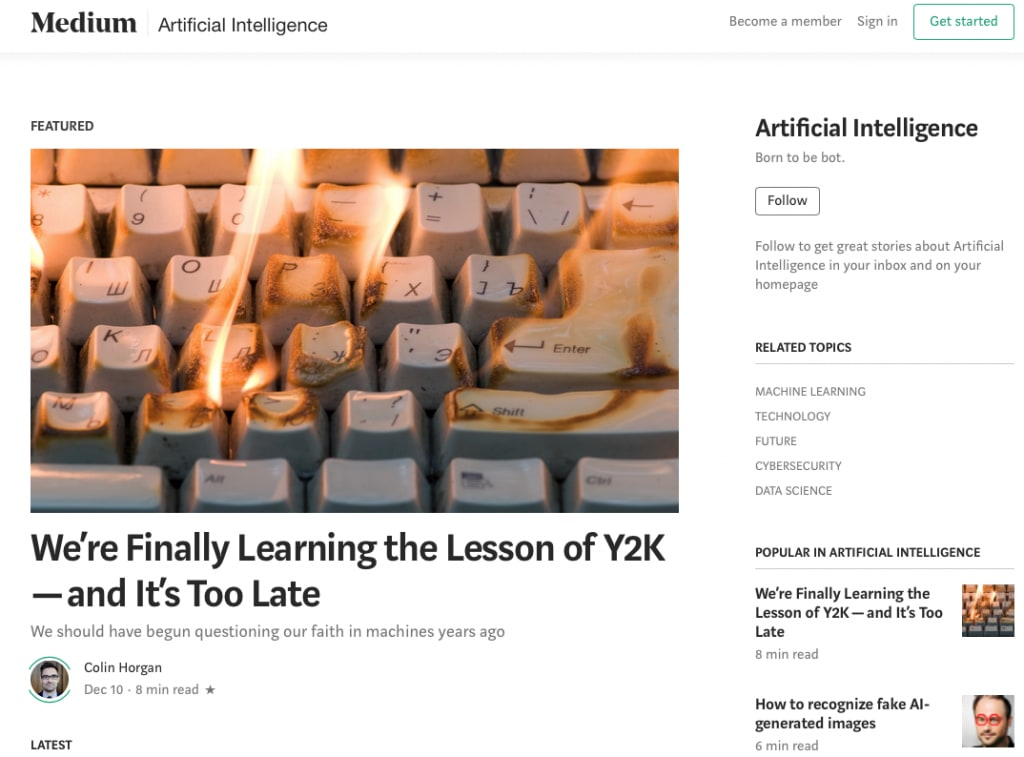 Medium's AI and ML streams