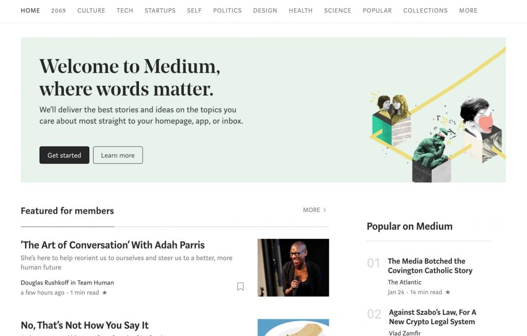 Medium's typography