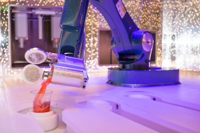 Royal Caribbean's bar robot