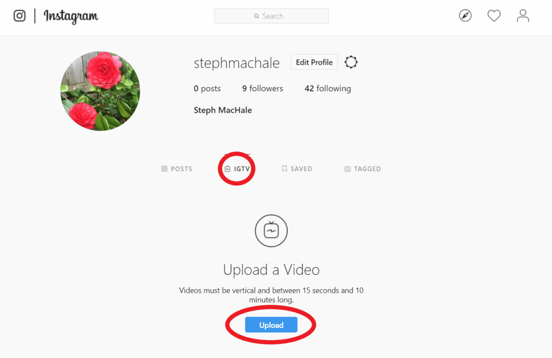 upload an IGTV video from your desktop