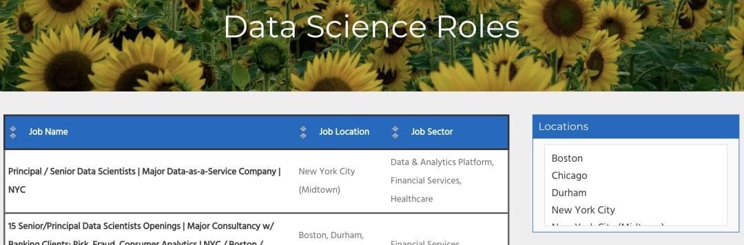 The Data Science Report is the brainchild of Starbridge Partners