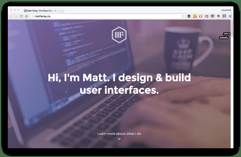 Matt Farley programmer portfolio example