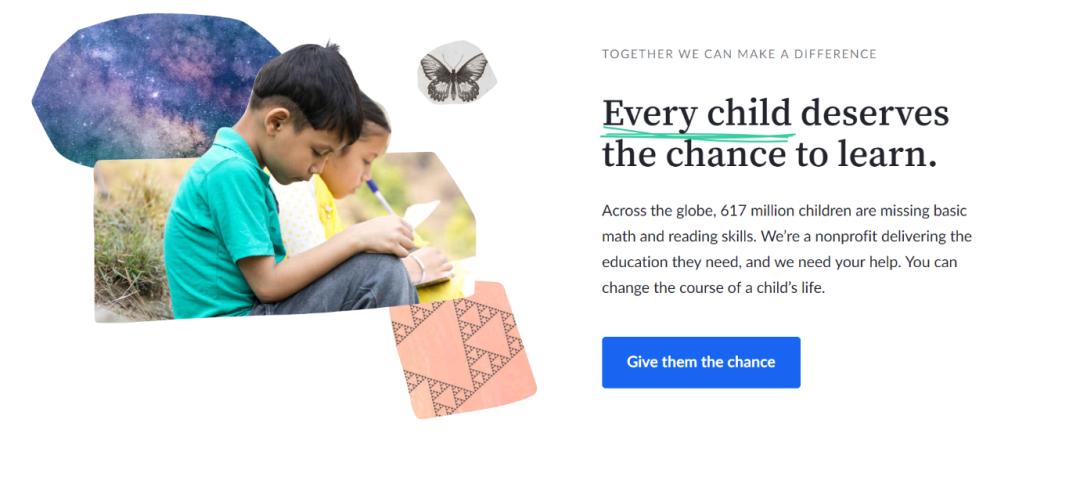Final Khan Academy landing page