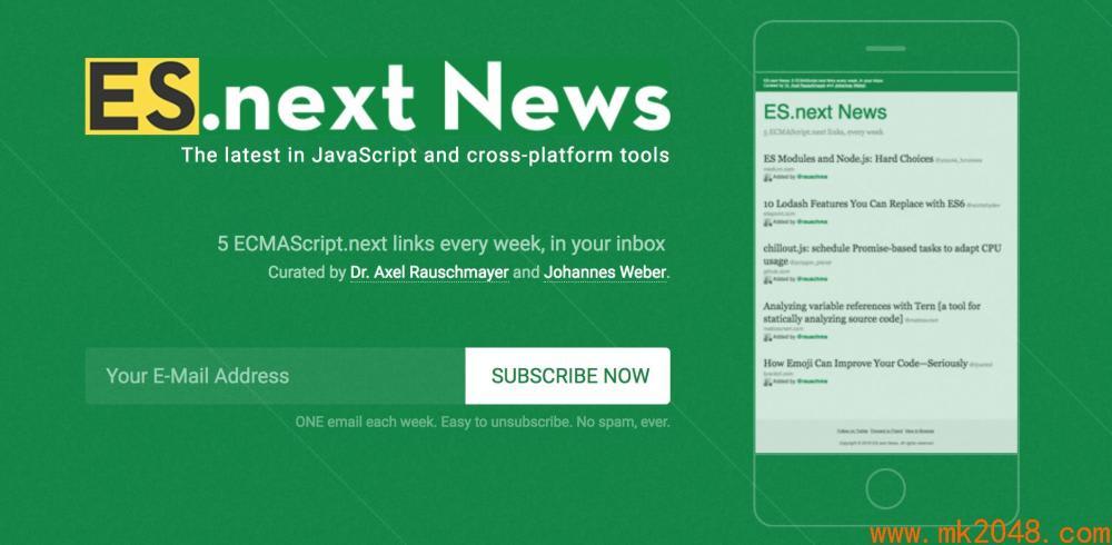 Javascript newsletters ESnext News