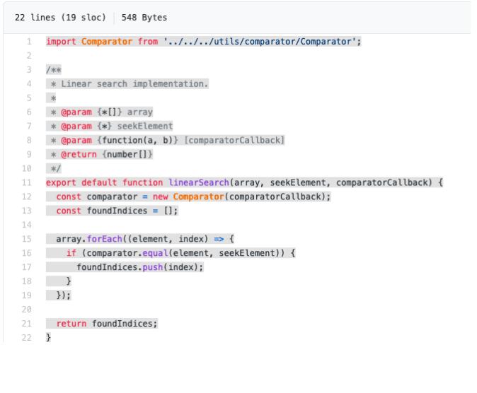 yazılım mühendisliği mülakat soruları - javascript'te doğrusal arama