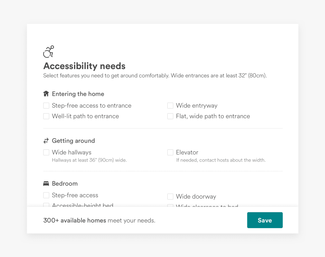 AirBnB Accessibility Needs