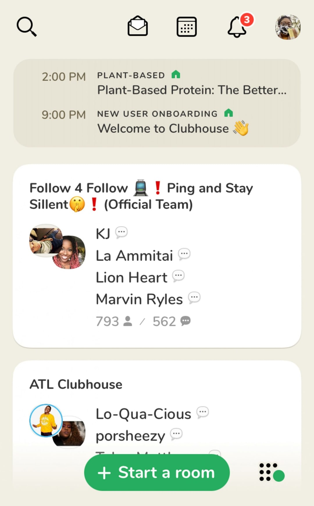 Clubhouse - UX design example