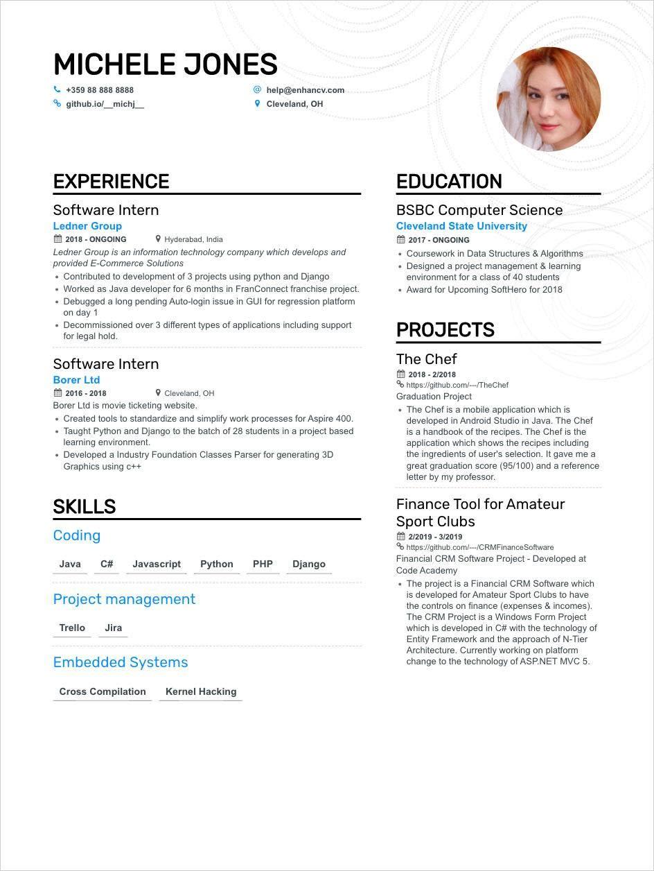 Best SE Resume Example