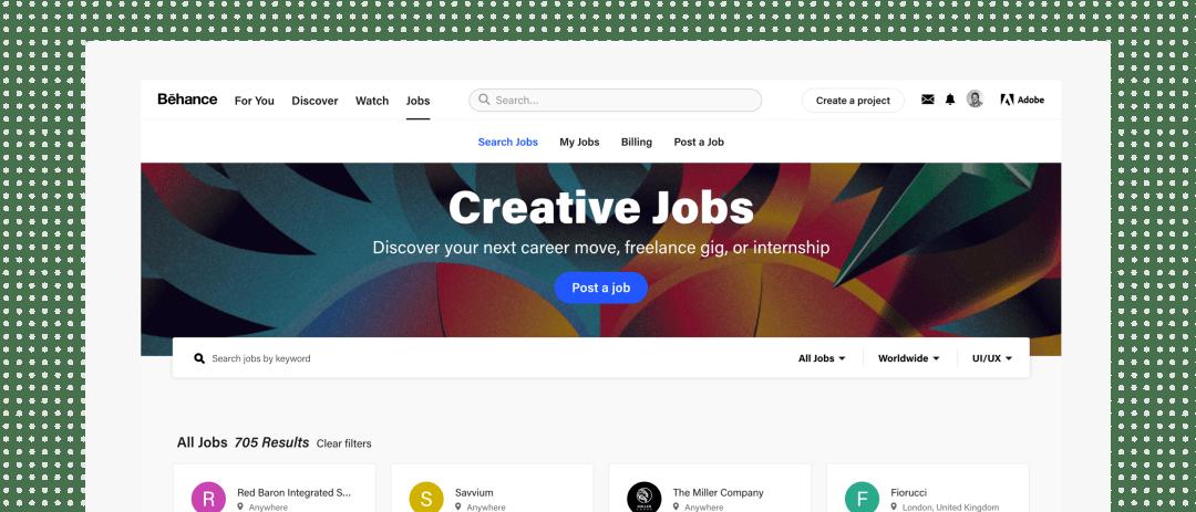 UX Job Boards - Behance