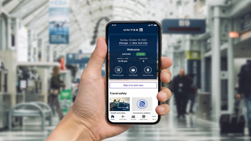 United Airlines Travel-Ready App