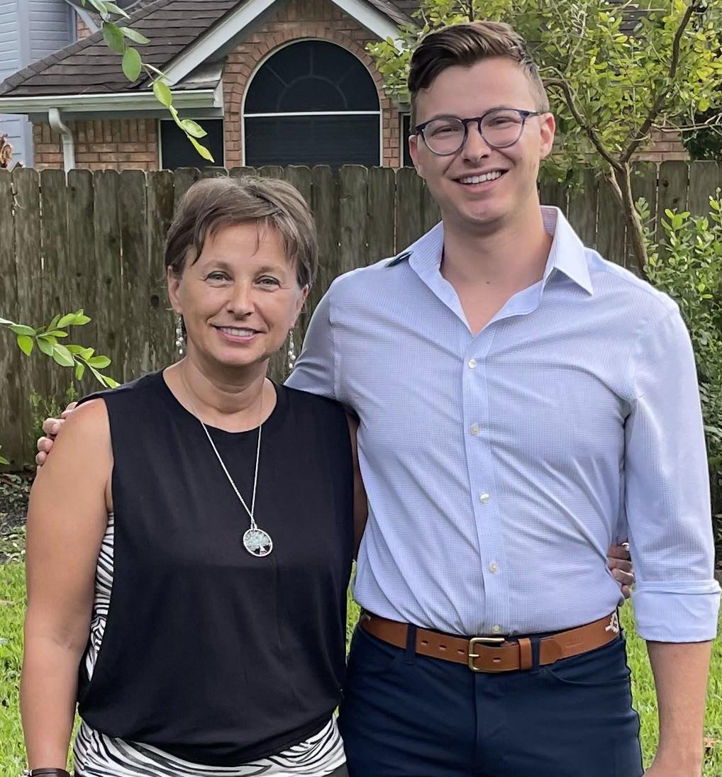 Iulia Tomescu and her son.
