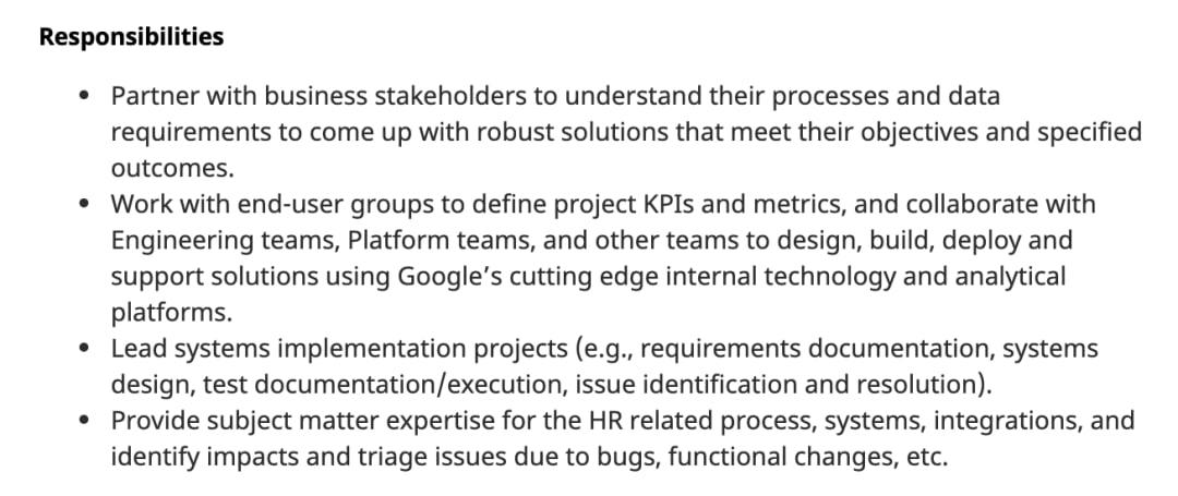 Business Systems Analyst Job Description