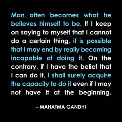 "Gandhi ""Capable"" Inspirational Magnet"
