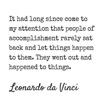 "Leonardo Da Vinci ""Accomplishment"" Inspirational Magnet"