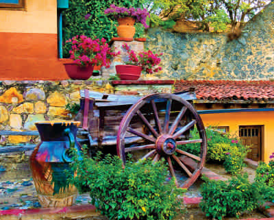 Colorful Courtyard 1000 Piece Puzzle