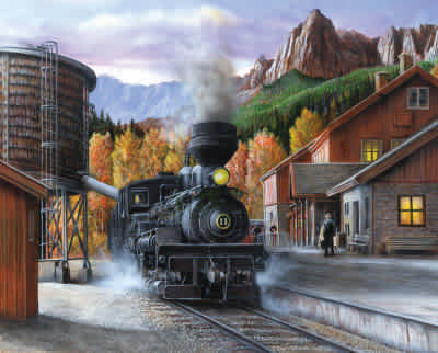 Mountain Express 1000 Piece Jigsaw Puzzle