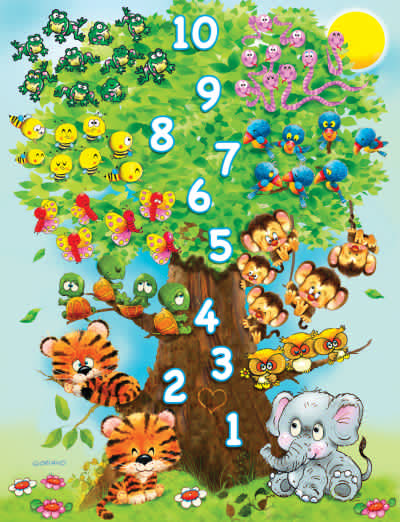 Counting Tree 36 Piece Jigsaw Puzzle