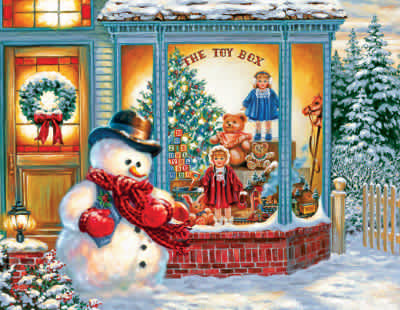 Frosty's Toy Box 500 Piece Jigsaw Puzzle