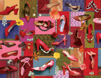 Pearls & Pumps! 500 Piece Jigsaw Puzzle