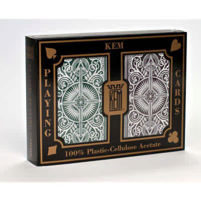 Kem Arrow Narrow Standard Index Playing Cards Green and Brown Decks Standard Index Playing Cards