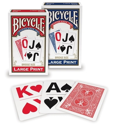 Bicycle Large Print Bridge Size Playing Cards