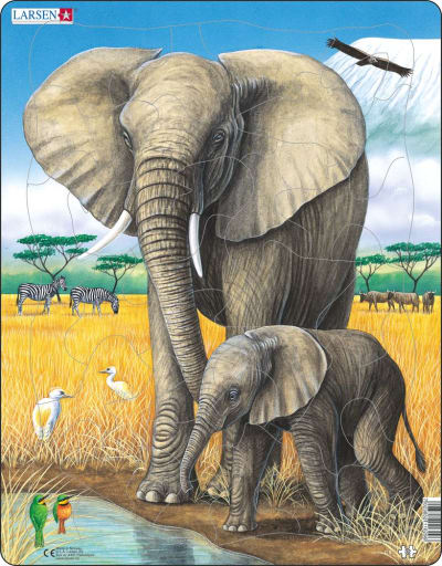 Elephant 32 Piece Children's Jigsaw Puzzle