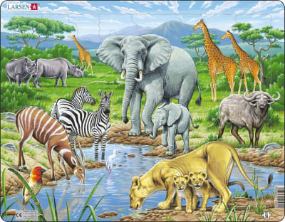 African Savannah 65 Piece Children's Jigsaw Puzzle