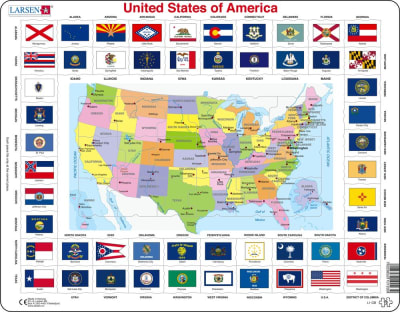 United States of America State Flags 70 Piece Educational Children's Jigsaw Puzzle