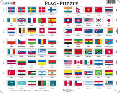 Flags of the World 80 Piece Children's Educational Jigsaw Puzzle