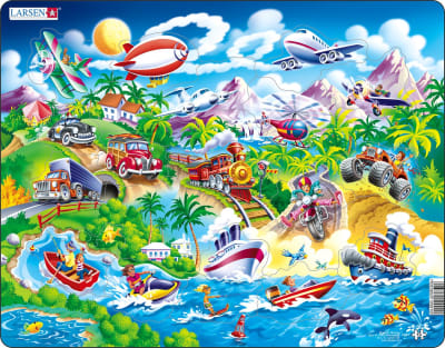 Cars, Boats, Trains and Airplanes 18 Piece Children's Jigsaw Puzzle