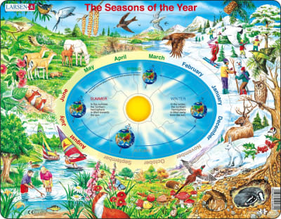 Seasons of the Year 44 Piece Children's Jigsaw Puzzle