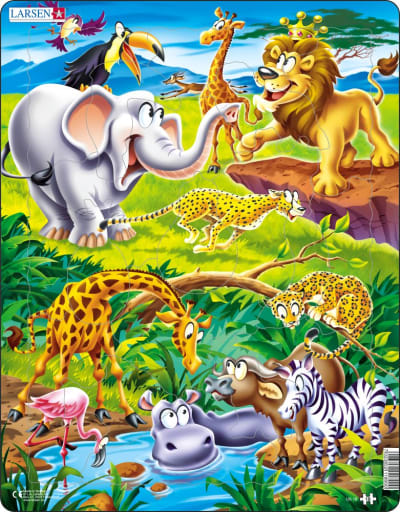 Safari 18 Piece Children's Jigsaw Puzzle